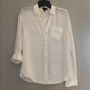 The Limited white button down top